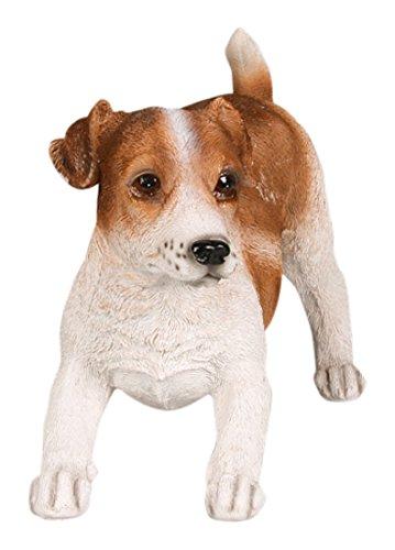 Farmwood 3082BR Deko-Figur, Motiv: lebensechter Jack Russell Terrier, 26x 12x 17cm, mehrfarbig (Terrier Jack Russell Figur)
