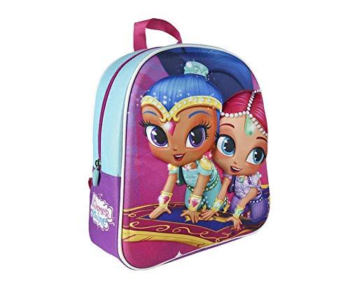 Shimmer und Shine   3D Rucksäcke   Super Mädchen Hochwertiger Rucksack   Der Ultimative Rucksack Für Schule und Kindergarten   Perfekte Reisetasche!   Fliegender Teppich!  