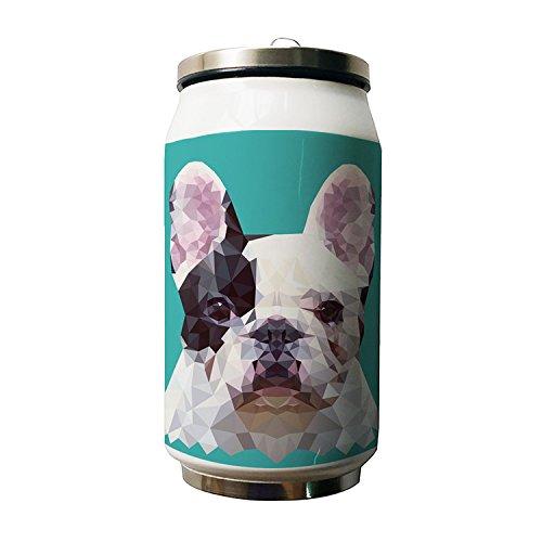 okoukiu diamante cane animale Design doppio isolamento a vuoto in acciaio inox bottiglia d' acqua, 280ml