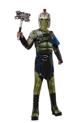 (Rubie's Offizielles Hulk-Kostüm, Marvel, Ragnarok, Krieg, Deluxe-Kostüm für Kinder)