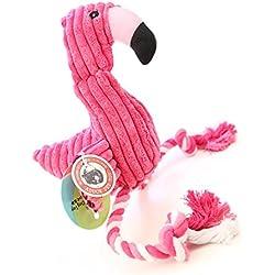 Soft Peluche de bajo relleno juguetes de perro con Squeaker para perros pequeños … (rojo)
