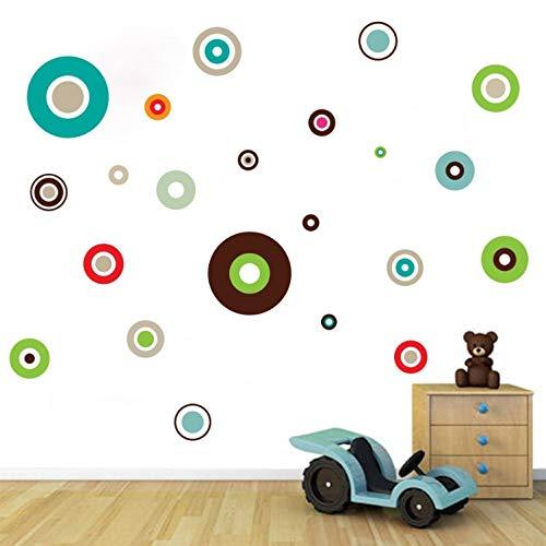 huangyuzzzz Wandaufkleber mischen Farbe Polka Dots Wall Decal, abnehmbare Hauptdekoration Art Wall Decor, Wandkunst -