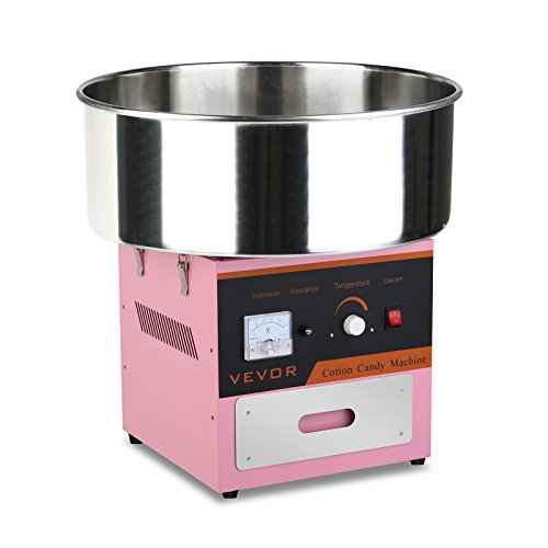OrangeA Zuckerwattemaschine Edelstahl Zuckerwattegerät Kommerziellen Zuckerwatten Maker 1/30 Sec Zuckerwattemaschine Cotton Candy 1030W Electric Candy Floss Maker (Zuckerwattemaschine)