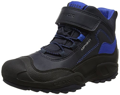Geox J New Savage B Abx a, Zapatillas Altas para Niños, Azul (Navy/Royal), 35 EU