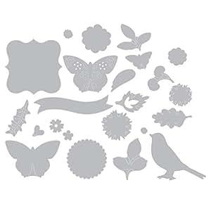 """Sizzix """"esplosione floreale"""" Thinlits - Fustelle con design di Brenda Walton, 23 pz"""