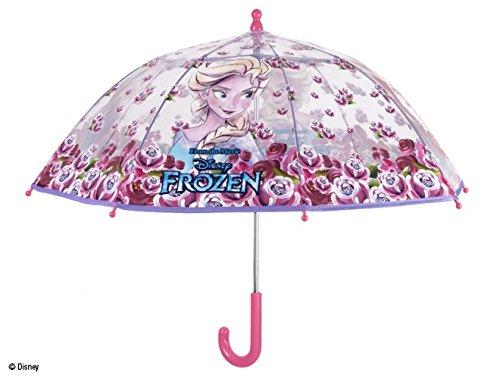 PERLETTI 50212, Paraguas de Cúpula de Frozen para Niña, Poliéster, 42 x 8 cm