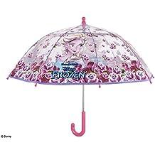 Perletti perletti50212 Paraguas de cúpula de Frozen para niña, resistente al viento, apertura segura y fabricado en poliéster, 42 x 8 cm