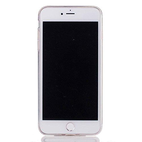 """Transparente Coque iPhone 7 Plus (5.5"""") Silicone Souple Case Délicieux Hamburger Motif Mode, Solaxi TPU Housse Étui pour Apple iPhone 7 Plus Ultra Mince Couverture Légère Slim Flexible Coquille Shell  Mandala blanc"""