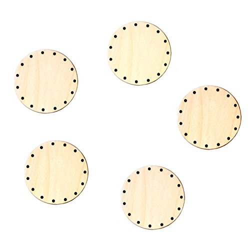 5x Korbboden, rund, 9cm für 3mm Rohr - Flechten, Korbflechten, Schilf Set, Peddigrohr, Flechtmaterial, Flechtset, Rattan -