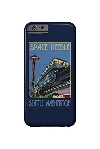 Seattle, Washington - Space Needle and Monorail (iPhone 6 Cell Phone Case, Slim Barely There) - Monorail, Space Needle