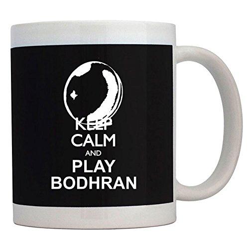 Teeburon Keep calm and play Bodhran silhouette - Tassen