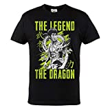 Rule Out Casual T-Shirt. Bruce Lee. The Legend of The Dragon. Karate. Schwarz (Größe Medium)