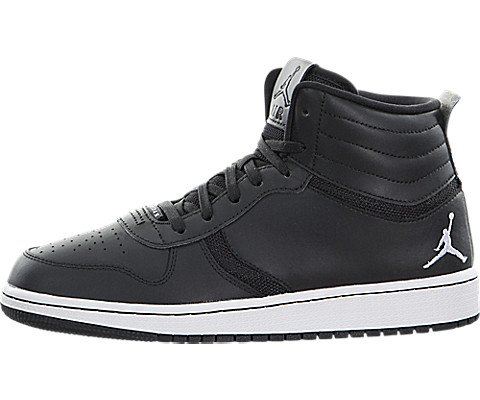 Jordan Kids Heritage BG Black/White Basketball Shoe 4 Kids US