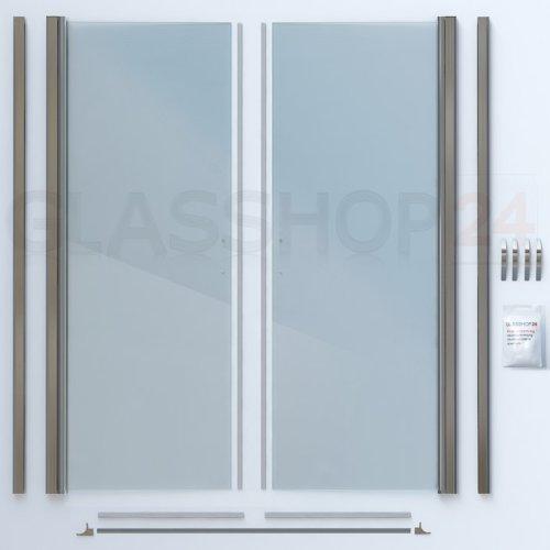 Hochwertige Design Mattglas-Duschabtrennung / Nischendusche mit Lotuseffekt | 90 x 195 cm - 6
