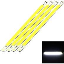 YouOKLight 4 Unidades, 200 * 10 mm 10W de Blanco Frío de la luz de tira COB LED 800LM Para el hogar, coche, DIY Decoración Luces DC12-14V