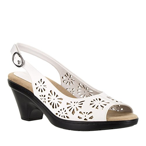 Easy Street Kaley Femmes Synthétique Talons white