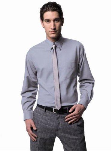 Russell Collection! Pflegeleichtes Langarm Oxford Hemd auch in Übergrößen 6XL / 53/54 /21,Silver