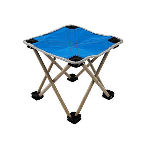 CJC Tabouret Pliant Siège du Repos Portable Trépied Camping des Sports Poids Léger Alpinisme (Couleur : Bleu)