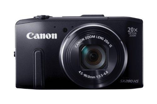 Canon PowerShot SX 280 HS Digitalkamera (12 MP, 20-Fach Opt. Zoom, 7,6cm (3 Zoll) LCD-Display, bildstabilisiert) schwarz -