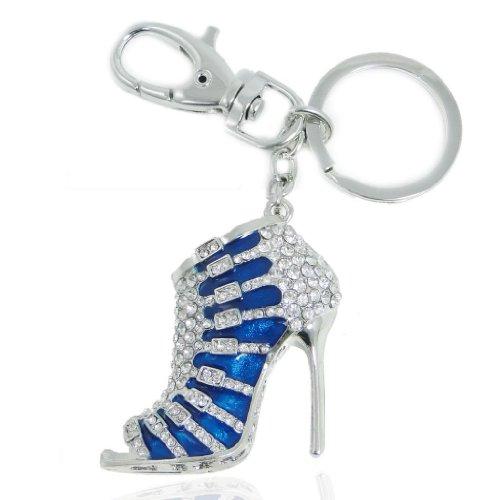 ever-faithr-womens-austrian-crystal-blue-enamel-high-heel-shoe-keychain-clear-silver-tone