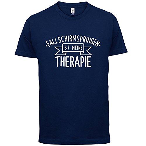 Fallschirmspringen ist meine Therapie - Herren T-Shirt - 13 Farben Navy