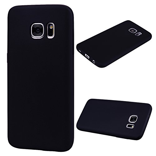Forhouse Hülle Samsung Galaxy S7 Edge Anti-Scratch, Slim Back Cover Personality Design Clear TPU Hülle Back Cover for Samsung Galaxy S7 Edge - Black