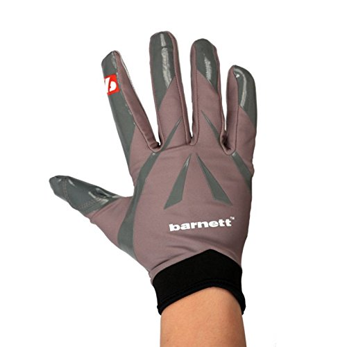 FRG-03 American Football Handschuhe Empfänger Receiver Profi, RE,DB,RB grau (L)
