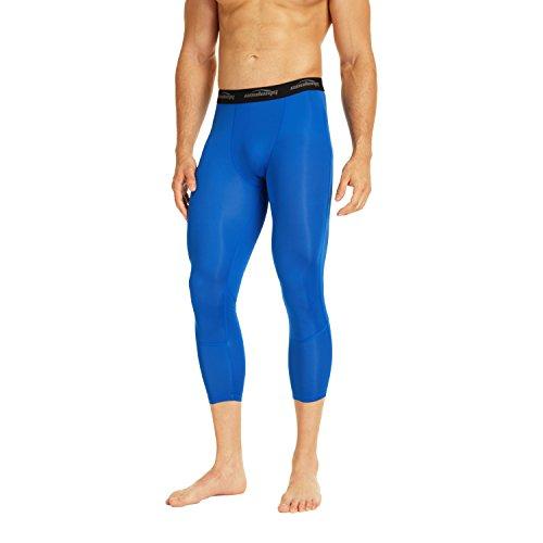 hose Laufhose 3/4 Fitness & Training Funktionswäsche Hose Schnell trocknend für Herren Jugend Blau XL ()