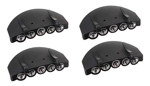 5 luces LED ultrabrillantes para gorra