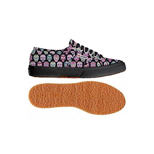 Superga - 2750 Fantasy Cotu, Sneaker Donna MULTICOLORSKULLS-BLK