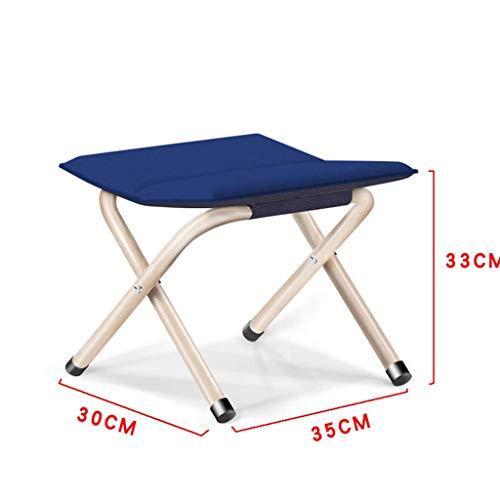 Preisvergleich Produktbild PTERS Dreifach verstrebter und doppelt aufklappbarer roter Klappstuhl aus Metall (Farbe : C)