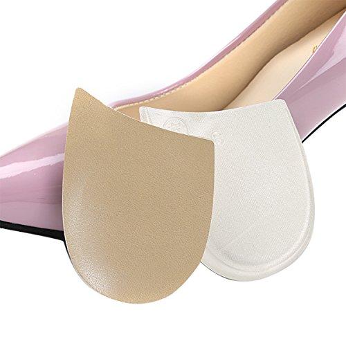 ROSENICE Orthopädische Einlagen Gel-Fuß-Korrektur-Pads Unisex-Bein-Valgus-Varus-Korrektor (Beige + Weiß) -