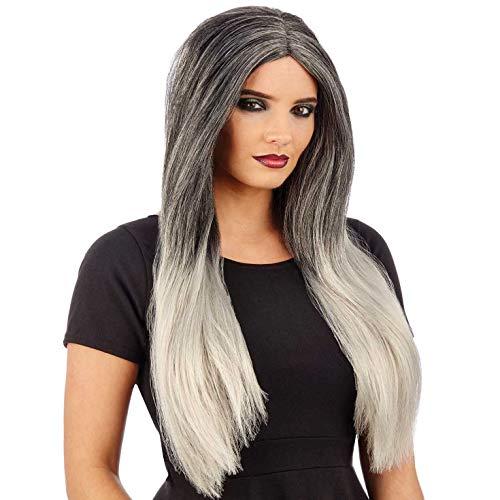 Fun Shack Damen Costume Kostüm, Ombre Wig Grey, - Fun Dip Kostüm