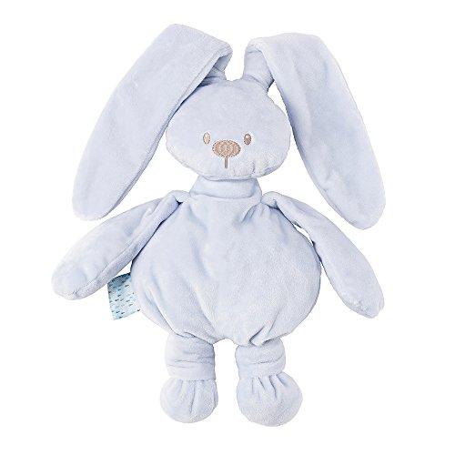Nattou 878043 Lapidou Kuscheltier Baby für Mädchen und Jungen, 30 cm Stofftier Unisex, Geschenk Spieltier, himmelblau