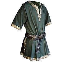 Rol en vivo - Túnica medieval - Verus - color verde - L