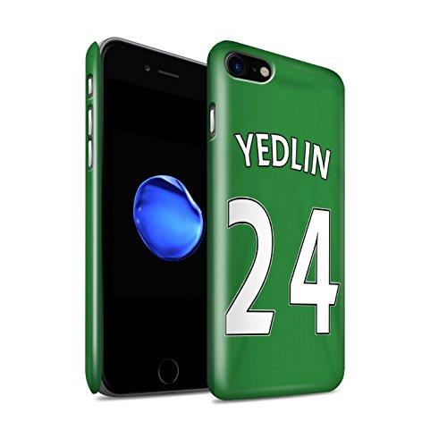 Offiziell Sunderland AFC Hülle / Glanz Snap-On Case für Apple iPhone 7 / Jones Muster / SAFC Trikot Away 15/16 Kollektion Yedlin