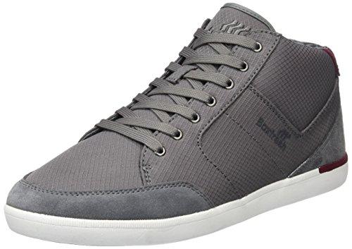 Boxfresh Cheam Sh Rip Nyl/Sde, Baskets Basses Homme Gris - Grau (Steel Grey/Maroon)