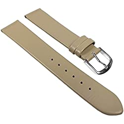 Replacement Band Watch Band Leather Kalf Strap Beige 22006S, Abutting:12 mm
