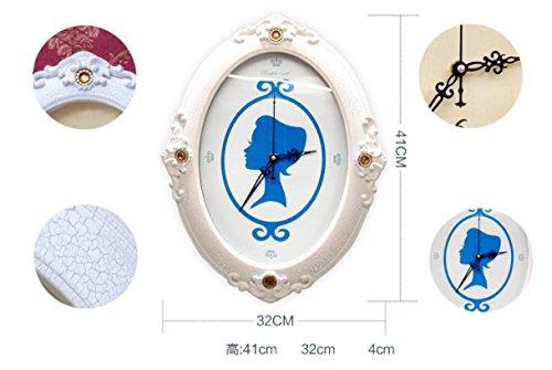 X&L Mittelmeer Europäische Classic Foto Wand kreativ Home Dekoration Handarbeit Holz Foto (9 Farben sind verfügbar) , all blue upgrade (a clock) - 3