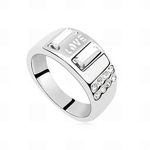 Hox anello in cristallo swarovski elements - migliaia di sogni anelli anelli vintage cristalli swarovski placcato oro lega, bianca