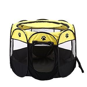 PU Ran Portable Outdoor zusammenklappbar Octangle Zelt Pet Laufgitter Hunde/Katzen Transportbox Käfig