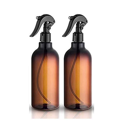 Felly Botellas de espray, 2 Unidades de 500 ml/16 oz Botellas de Spray vacías de plástico con pulverizador Fino Negro rellenable contenedor para aceites Esenciales, Limpieza, Cocina, jardín, Pelo