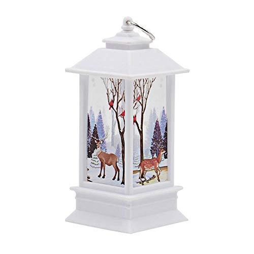 KOBWA LED-Laterne für Weihnachten, warmweiß, flackernd, Schneekugel zum Aufhängen, batteriebetrieben, für Weihnachten, Partys und ()