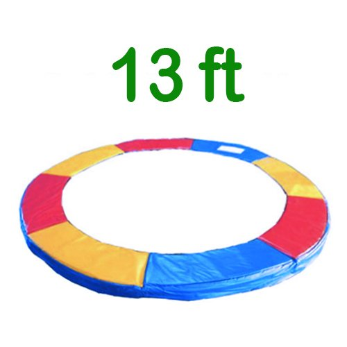 Greenbay 13FT Replacement Trampoline Surround Pad Foam Safety Guard Spring Cover Padding Pads Tri-Colour