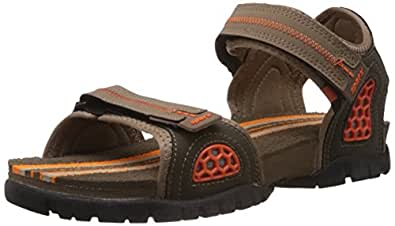 Sparx Men's Camel Brown and Orange Athletic & Outdoor Sandals - 6 UK