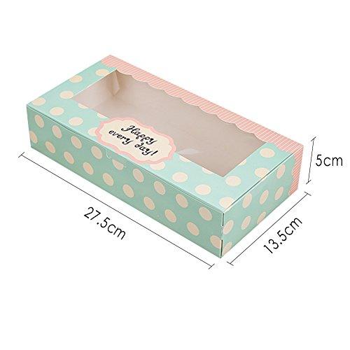 apier Kuchen Box Muffin Cupcake Gebäck Verpackung Geschenk-Boxen Bakery Behälter Set 12,7cm, 27*13.5*5cm (Halloween-cupcake-boxen)