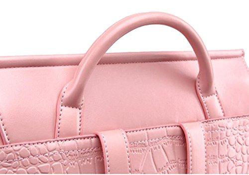 La Signora Multifunzionale Borsa Da Viaggio In Pelle Pink