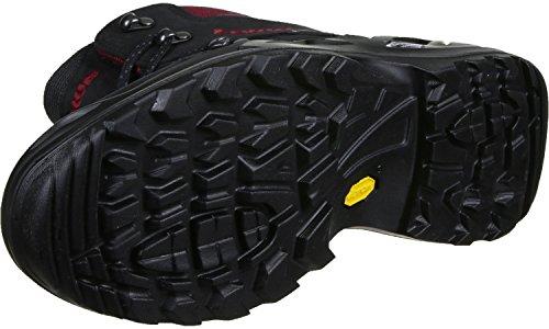 Lowa Renegade Gtx Mid, Stivali da Escursionismo Uomo nero rosso