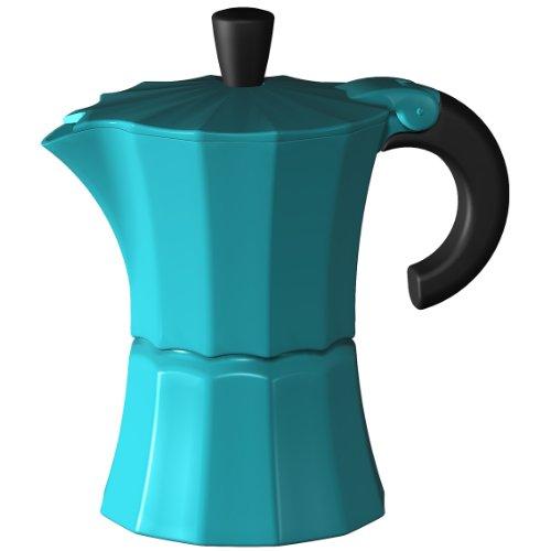 Gnali und Zani MOR002BLUE Morosina - Cafetera italiana (3 tazas), color azul