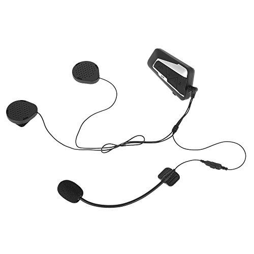 Docooler T9S Motorrad Helm Headset Bluetooth Intercom 1000m Interphone Entfernung FM Radio Freisprechen mit Mic IPX7 Wasserdicht Staubdicht Intercom Mic